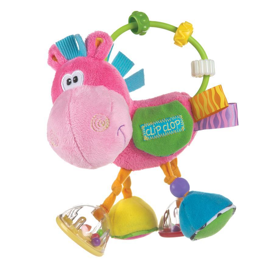 PLAYGRO Toy Box Kůň Klipp Klapp, růžový