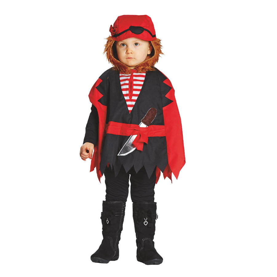 Rubíes Traje de Carnaval Capa Pirata