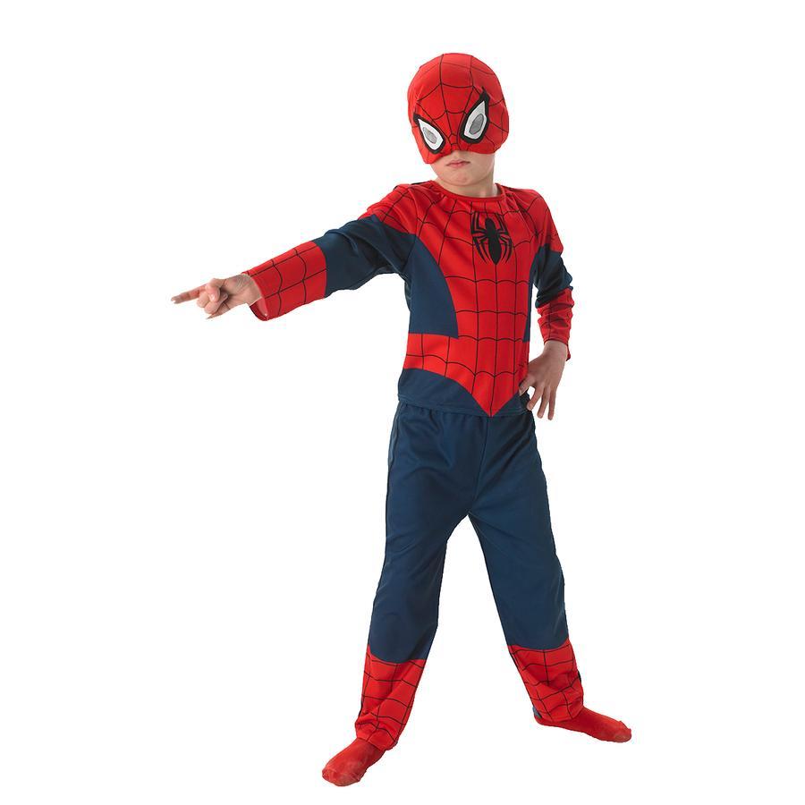 Rubies Karneval Kostüm Ultimate Spiderman Classic 3-teilig
