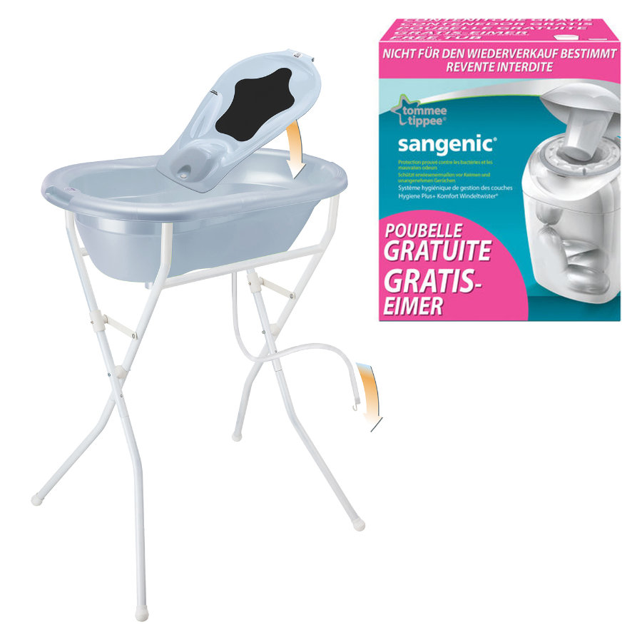 ROTHO Care Set TOP 5 pcs. baby bleu pearl with free SANGENIC MK Nappy Bucket