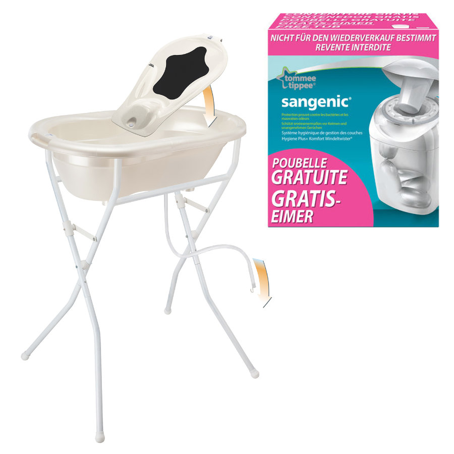 ROTHO Care Set TOP 5 pcs. pearl white with free SANGENIC MK Nappy Bucket