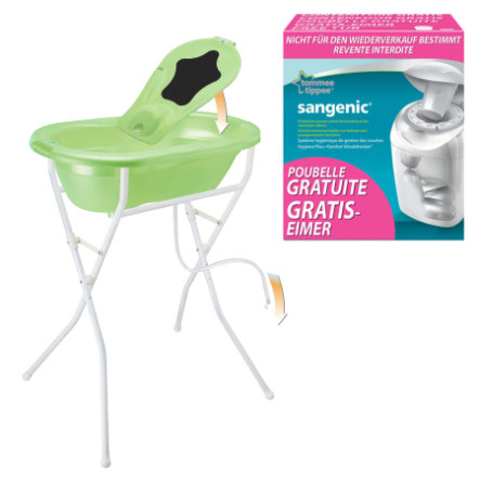 ROTHO Care Set TOP 5 pcs. lime green pearl with free SANGENIC MK Nappy Bucket