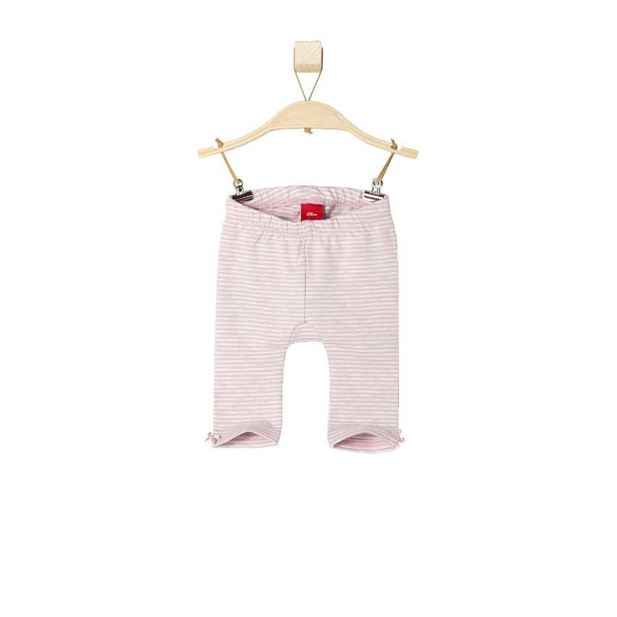 s.OLIVER Girls Baby Leginsy pink stripes