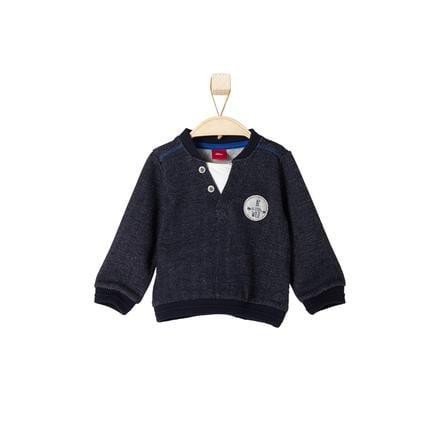 s.OLIVER Boys Mini Sweatshirt bleu foncé mélangé