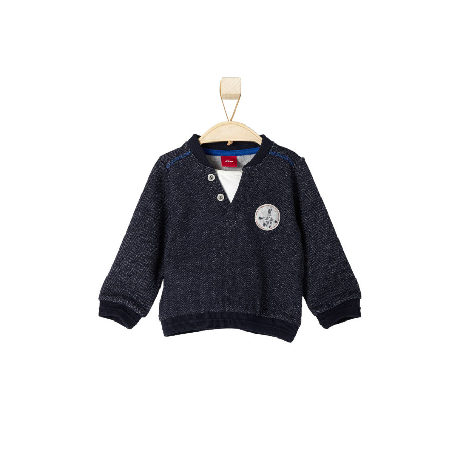 s.OLIVER Boys Mini Felpa dark blue melange