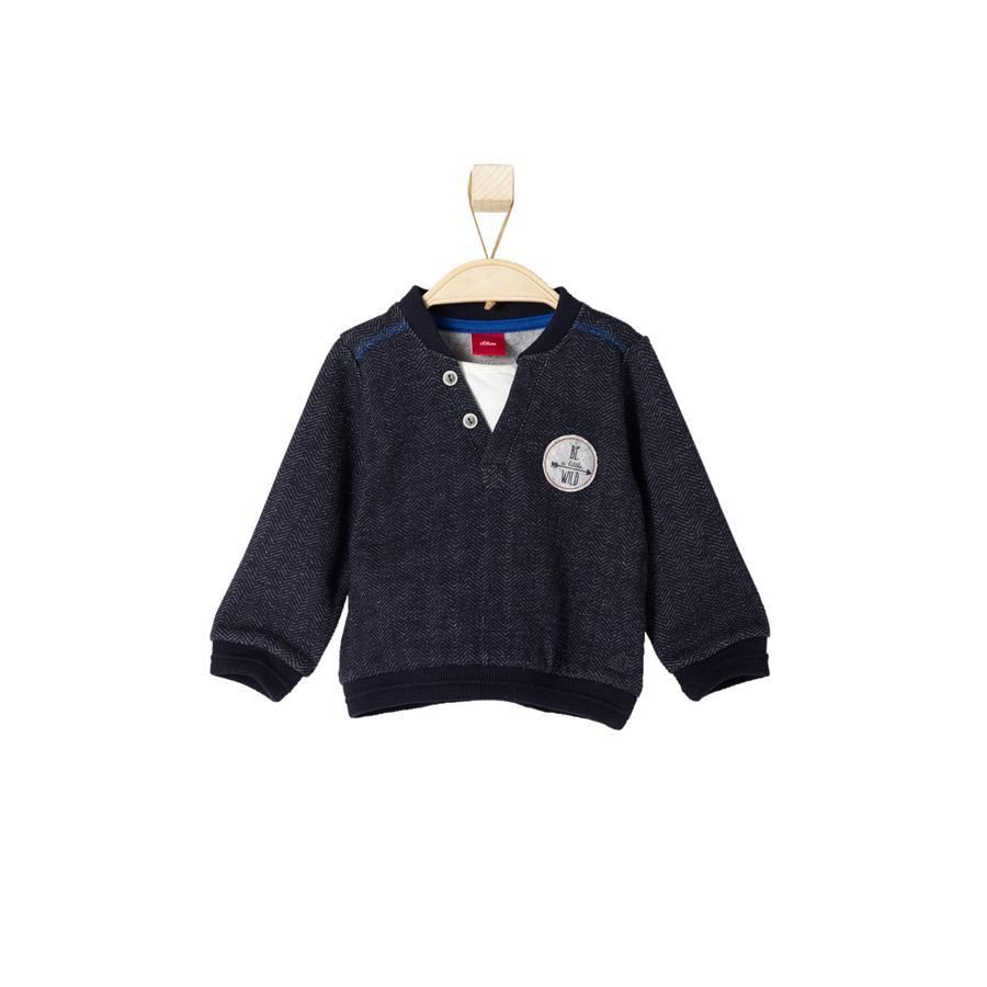 s.OLIVER Boys Mini Sweatshirt donkerblauw melange