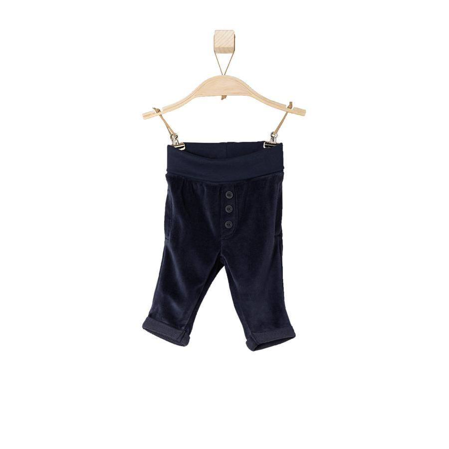 s.OLIVER Boys Pantalón de terciopelo para bebé azul oscuro