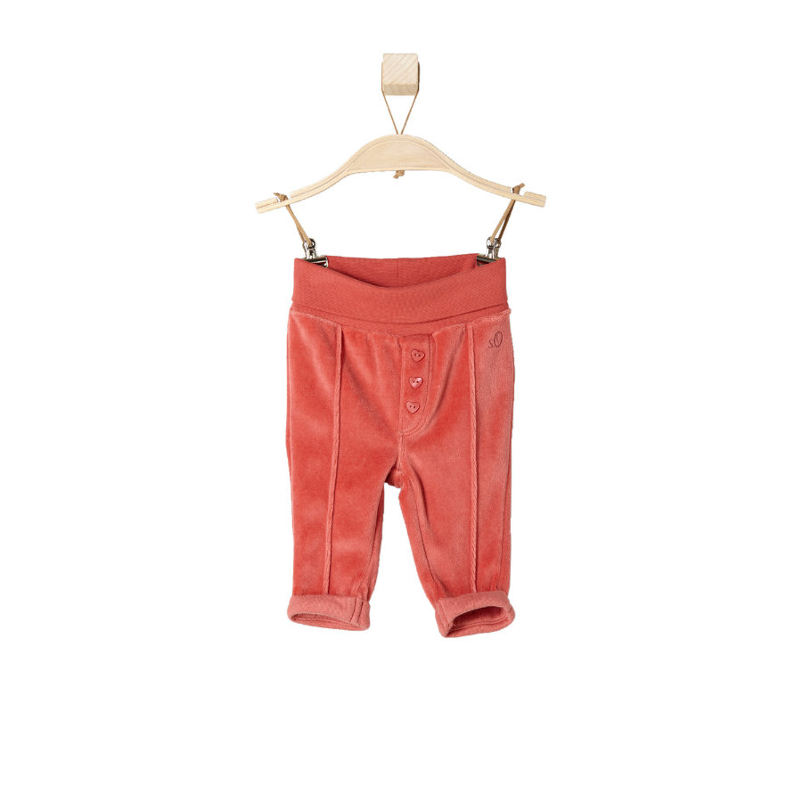 s.OLIVER Girls Baby Spodnie polarowe red