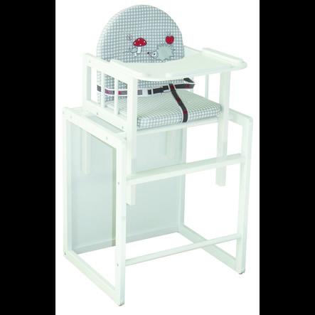 ROBA Chaise haute combinable Adam et Chouette, blanc