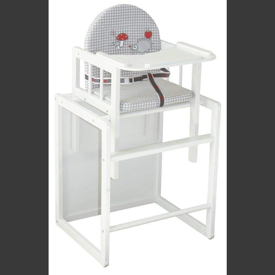 ROBA Kombinovaná jídelní židlička Adam & sova, bílá