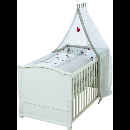 roba Kombi-Kinderbettset Adam & Eule weiß