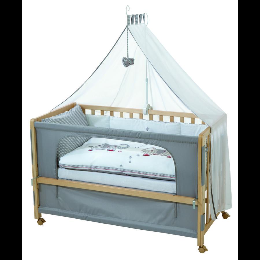 roba Room Bed Sideseng natur Jumbotwins