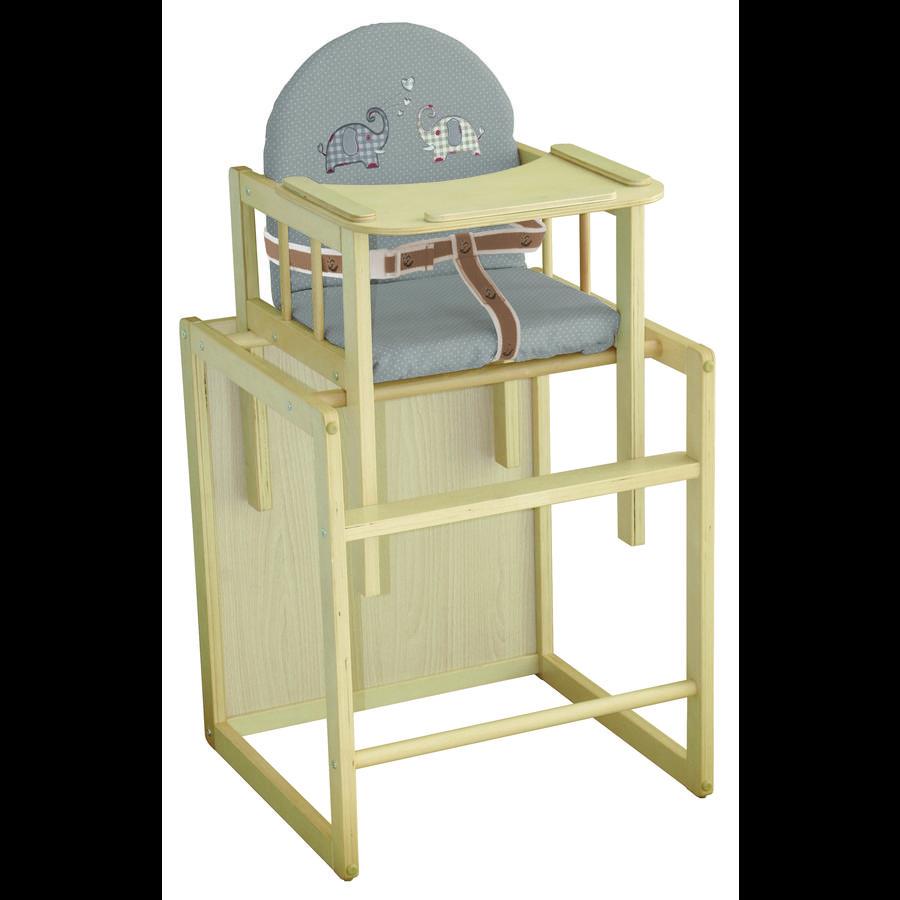 ROBA Chaise haute combinable Jumbotwins, nature