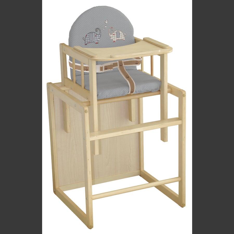 ROBA Kombinovaná jídelní židlička Jumbotwins, natur