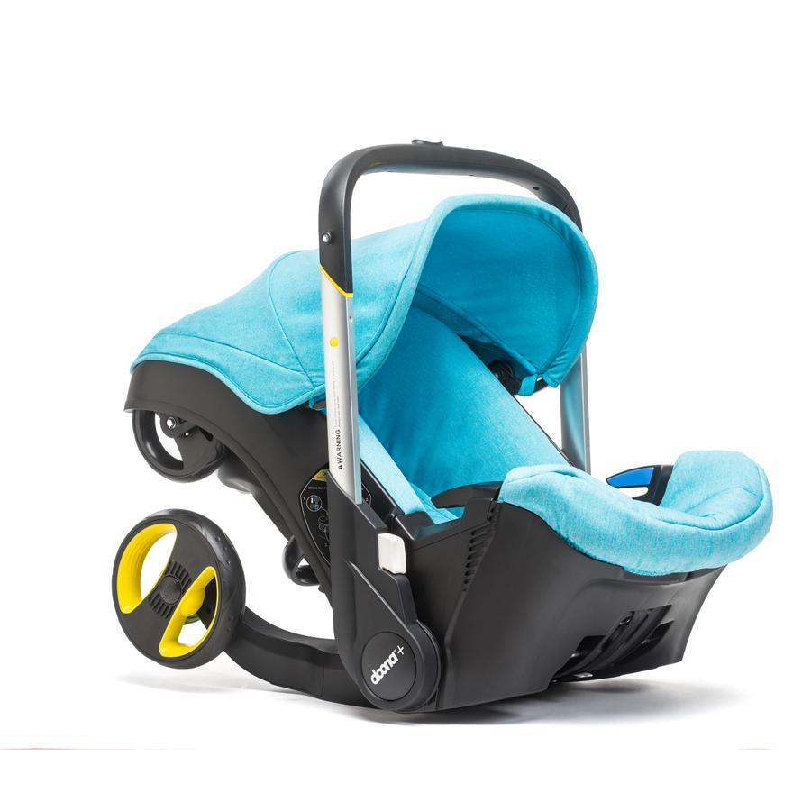 DOONA Babyschale Doona Plus türkis (sky) mit voll integriertem Fahrgestell, 2 in 1