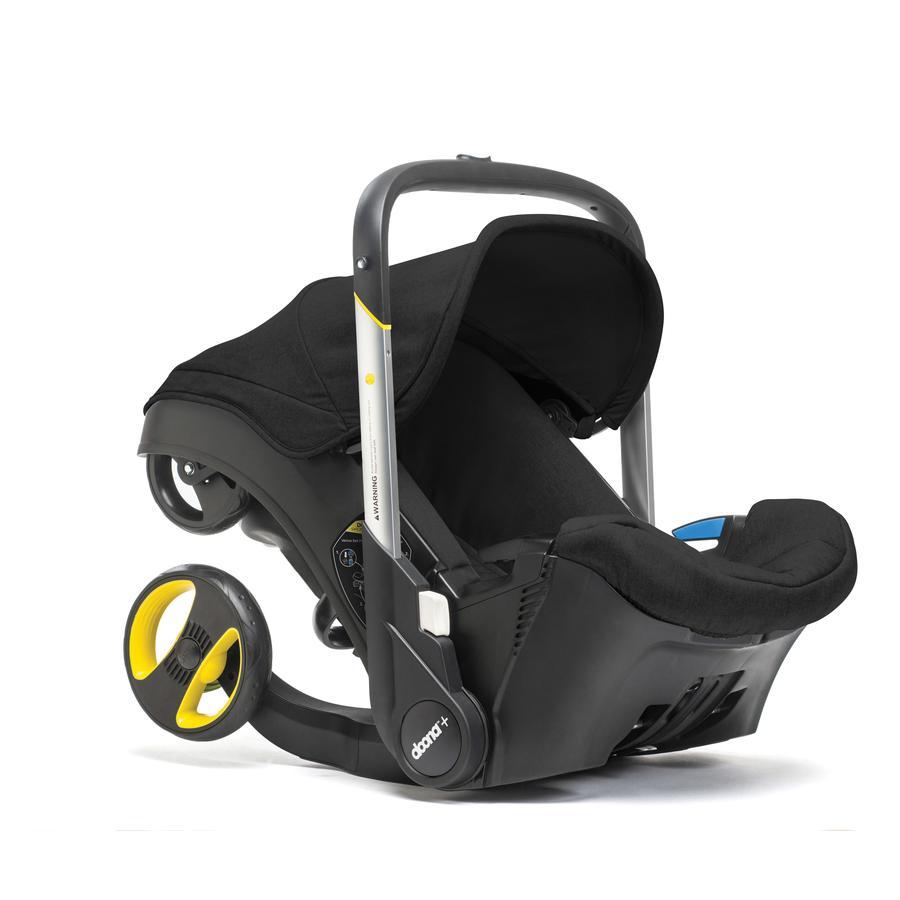 DOONA Babyschale Doona Plus schwarz(night) mit voll integriertem Fahrgestell, 2 in 1