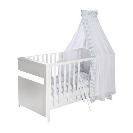SCHARDT Lit bébé évolutif PLANET WHITE, 70 x 140 cm