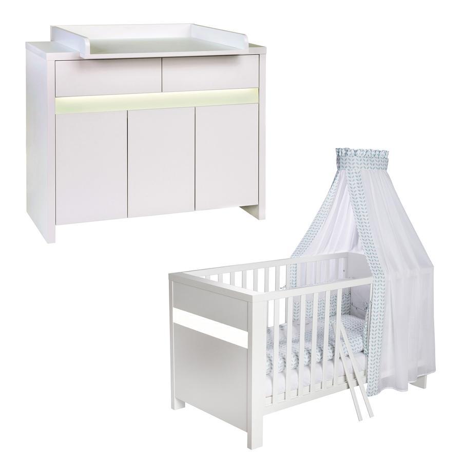 SCHARDT Set lettino & fasciatoio PLANE WHITE bianco