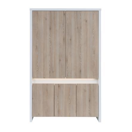 SCHARDT Armoire 5 portes PLANET PINIE, blanc/couleurs bois