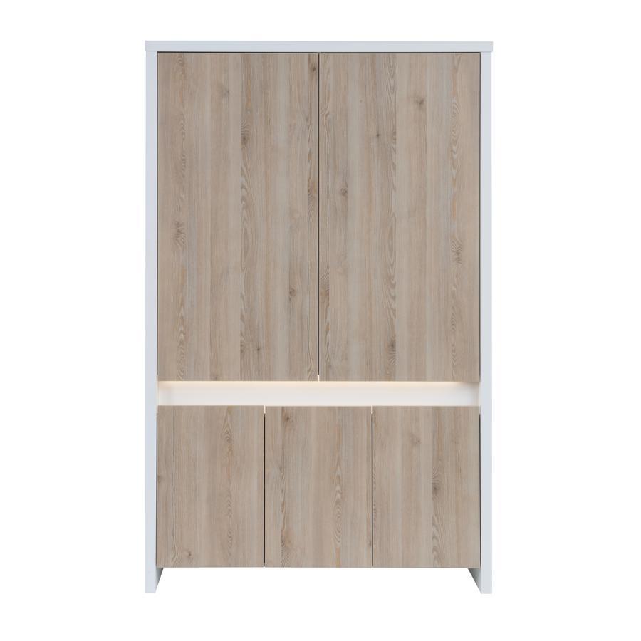 SCHARDT Armadio a 5 porte PLANET PINIE bianco / legno