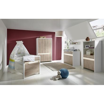SCHARDT Ensemble chambre d'enfant PLANET PINIE, blanc/couleurs bois