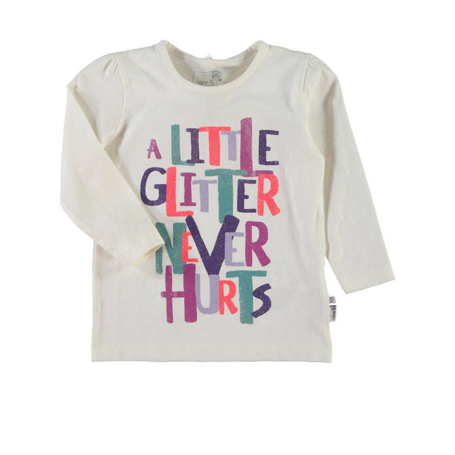 NAME IT Girls Mini Longsleeve NITNOVOTEL vanilla ice