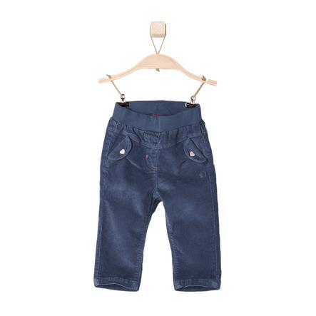 s.OLIVER Girls Mini Spodnie sztruksowe kolor niebieski