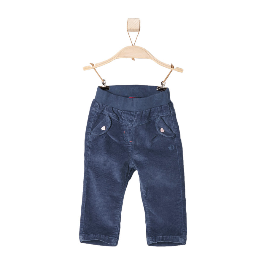 s.OLIVER Girls Mini Cordhose blau