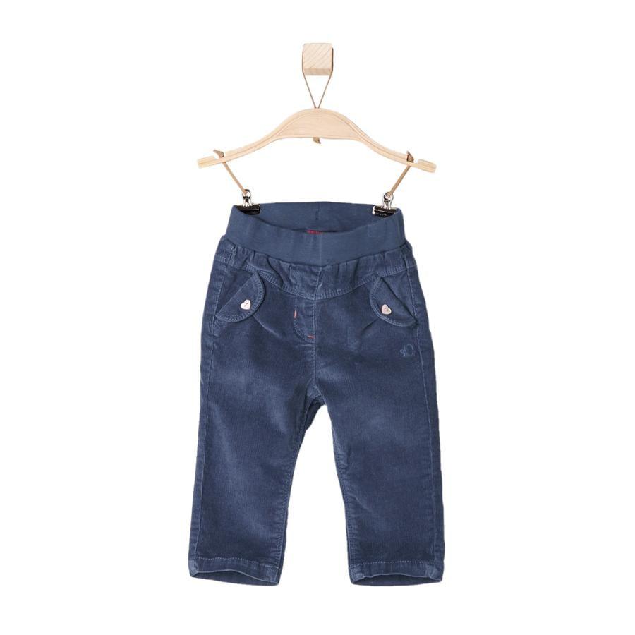 s.Oliver Girls Mini corduroy-bukse blå