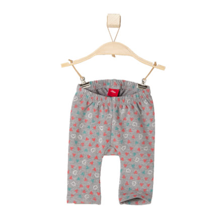 s.OLIVER Girls Baby Leggings grey melange