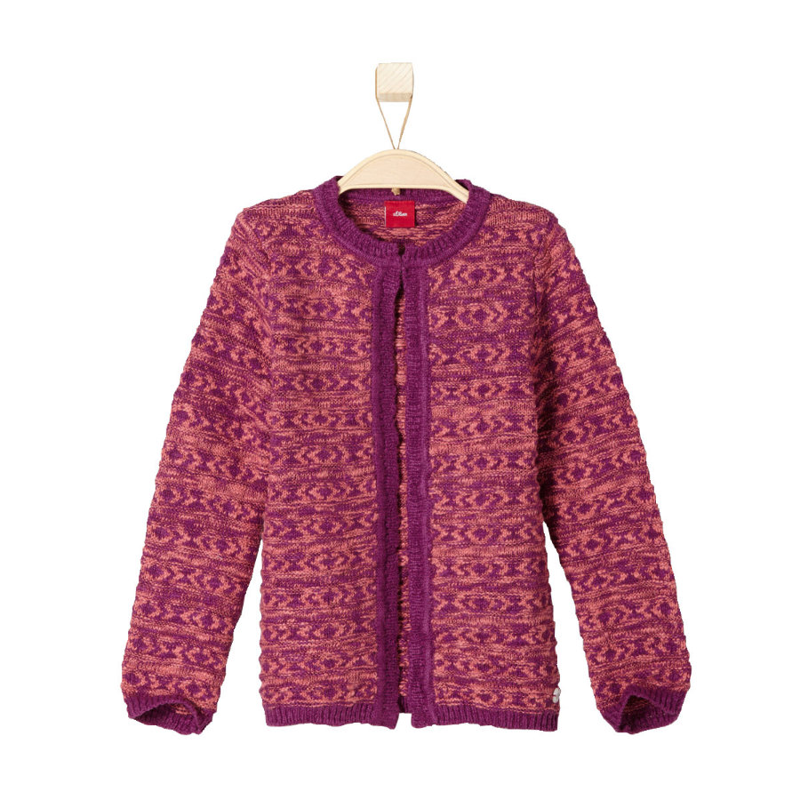 s.Oliver Girls Mini Strickjacke bordeaux