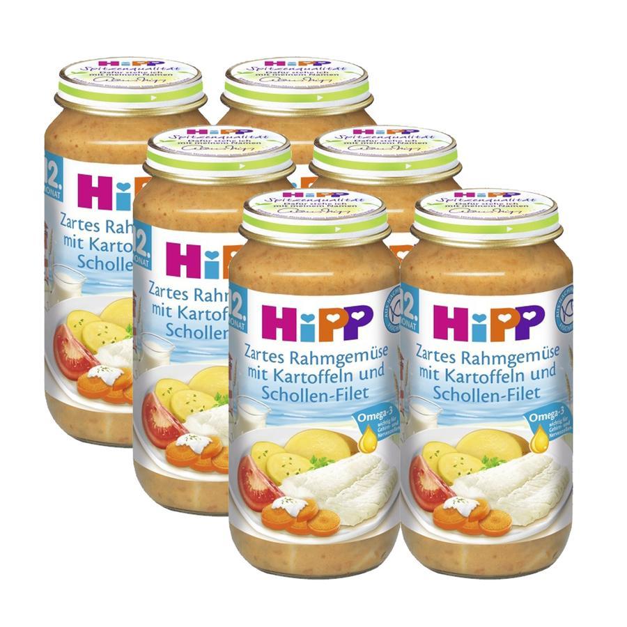 HiPP Zartes Rahmgemüse mit Kartoffeln und Schollen-Filet 6 x 250 g