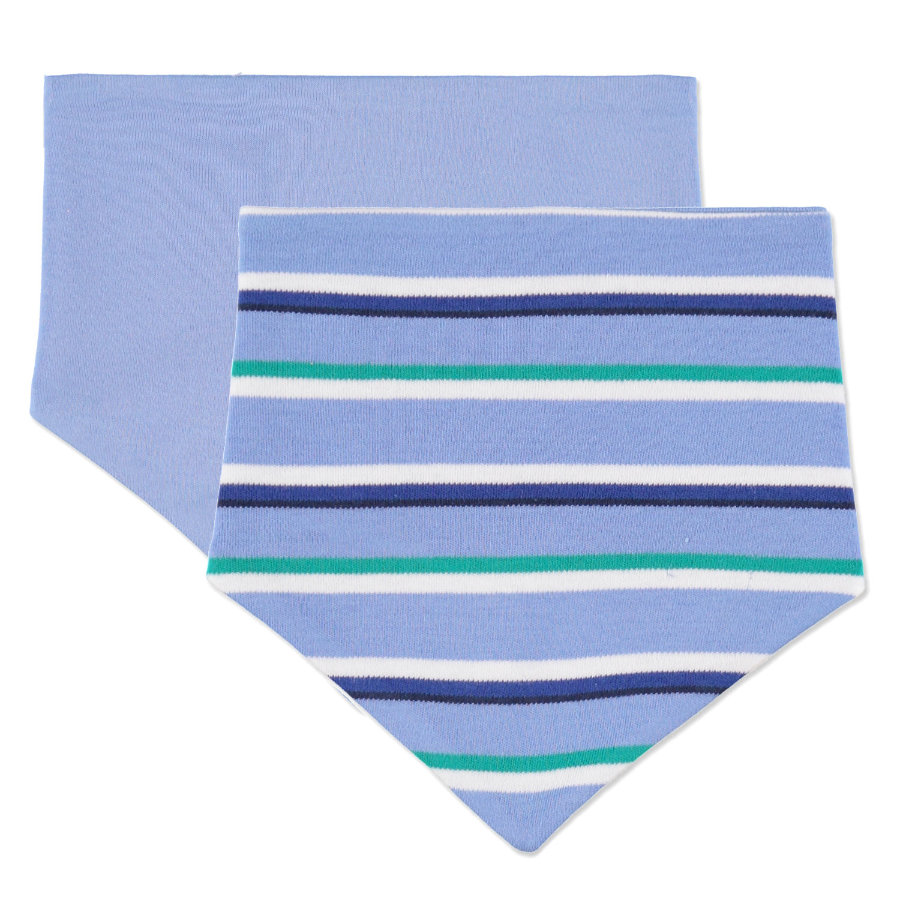 pink or blue Boys Dreieckstuch blau gestreift - 2er Pack