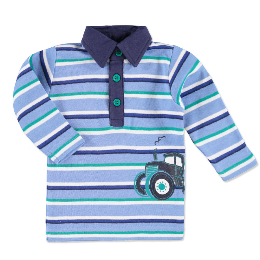 pink or blue Boys Poloshirt Traktor gestreift blau