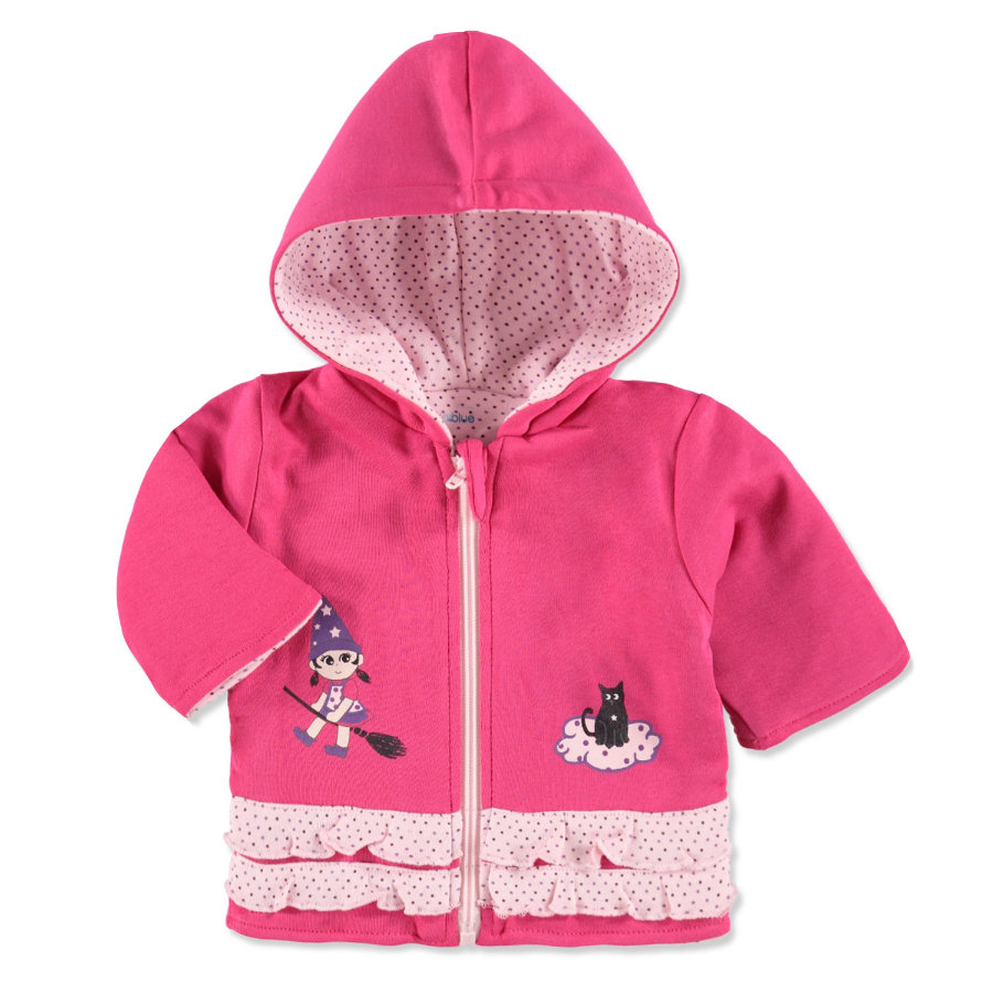pink or blue Girls Sweatjacke Hexe pink