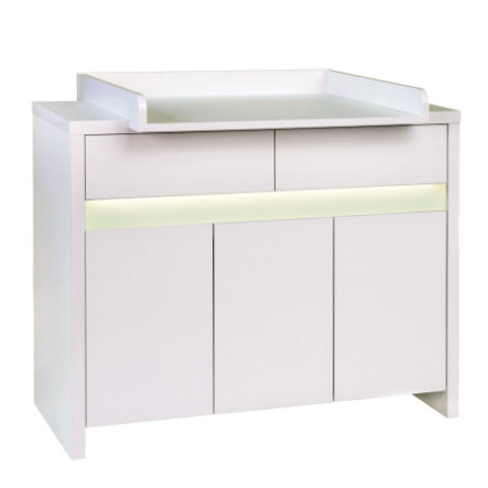 SCHARDT Commode à langer avec table PLANET WHITE