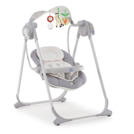 CHICCO babygynge Polly Swing Up SILVER
