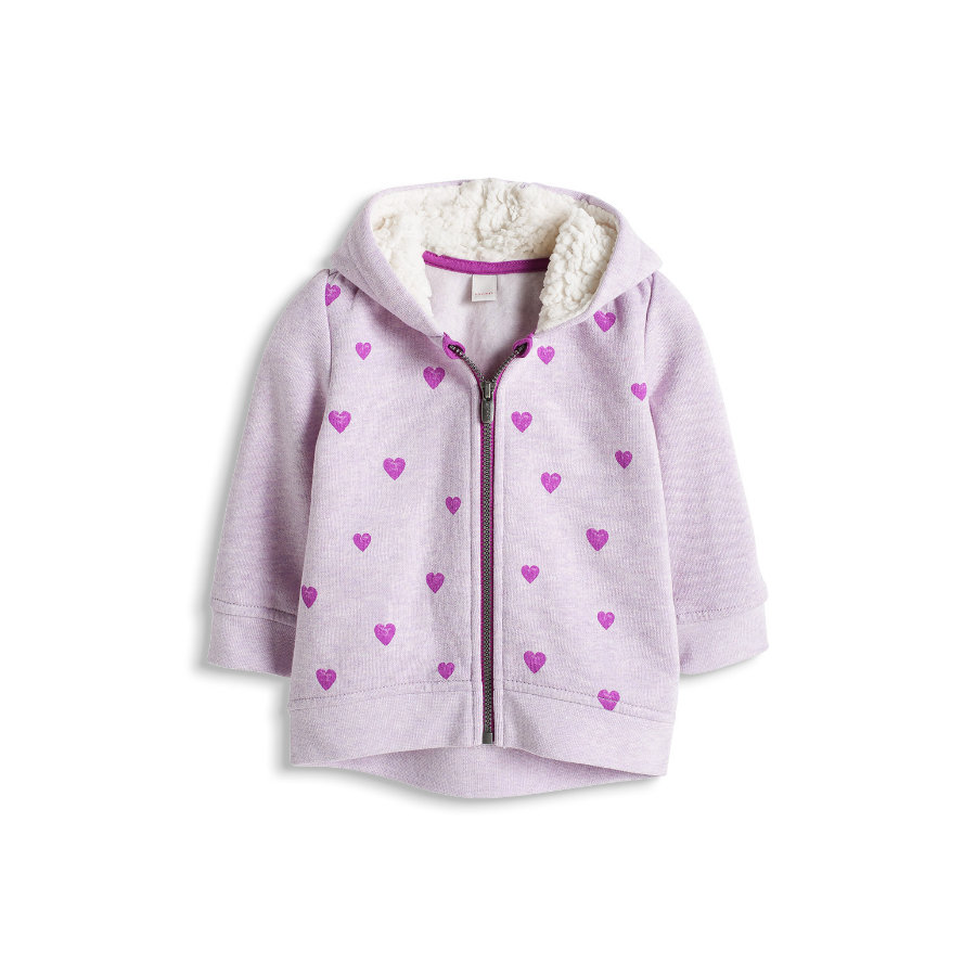 ESPRIT Baby Girl Sweatshirt Heart Card lila