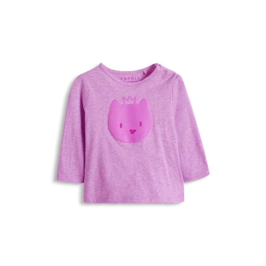 ESPRIT Baby Girl Longsleeve Princess Cat lila