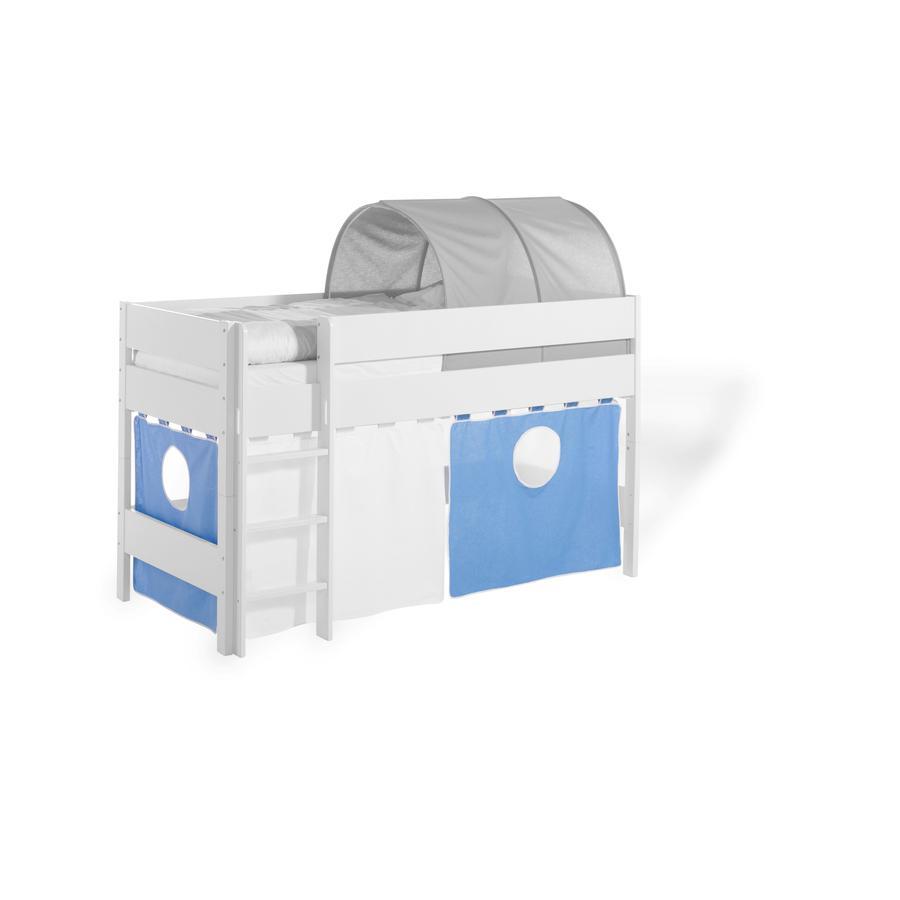 Geuther Vorhang-Set-2-teilig Längsseiten blau / weiß