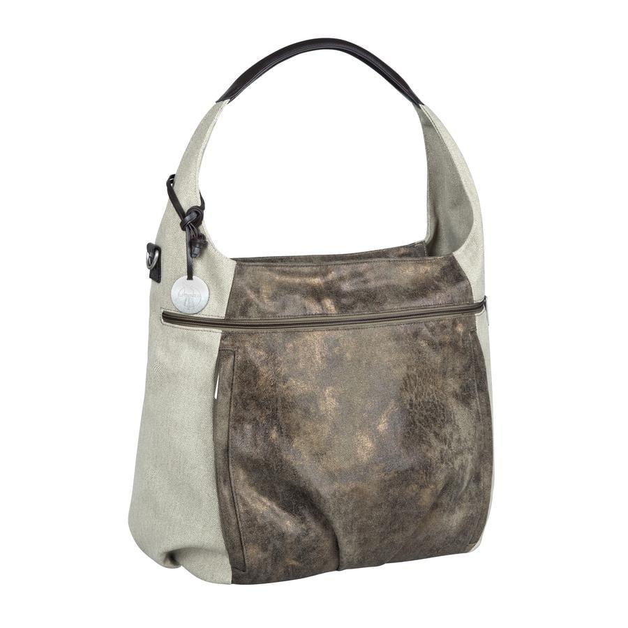 LÄSSIG Hoitolaukku Casual Hobo Bag, Olive-Beige