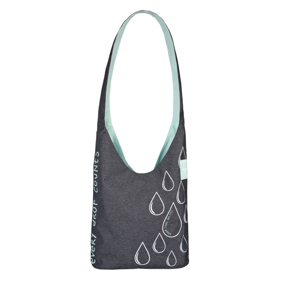 LÄSSIG Wickeltasche Green Label Shopper Ecoya anthracite/misty jade