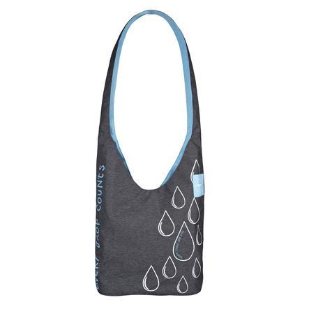 LÄSSIG Přebalovací taška Green Label Shopper Ecoya anthracite/blue mist