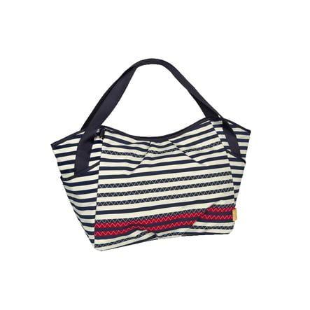 LÄSSIG Casual Bolso cambiador Striped Zigzag azul marino