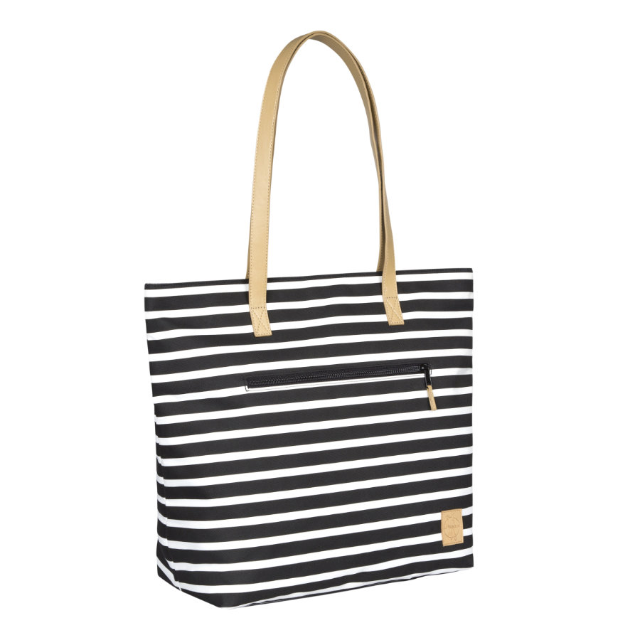 LÄSSIG Borsa Fasciatoio Casual Tote Bag Striped black