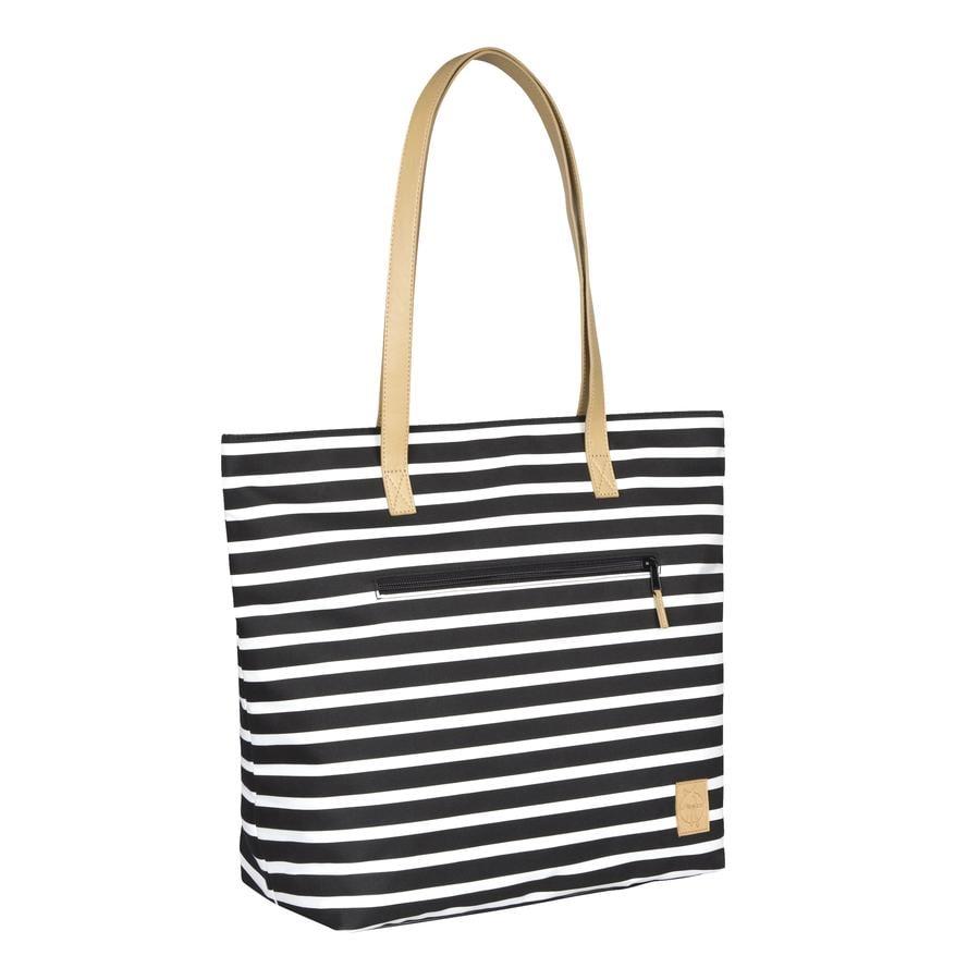 LÄSSIG Sac à langer Casual Tote Bag Striped, noir
