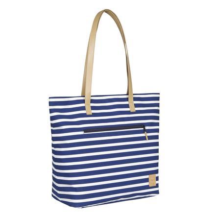 LÄSSIG Casual Bolso cambiador Tote Striped azul marino