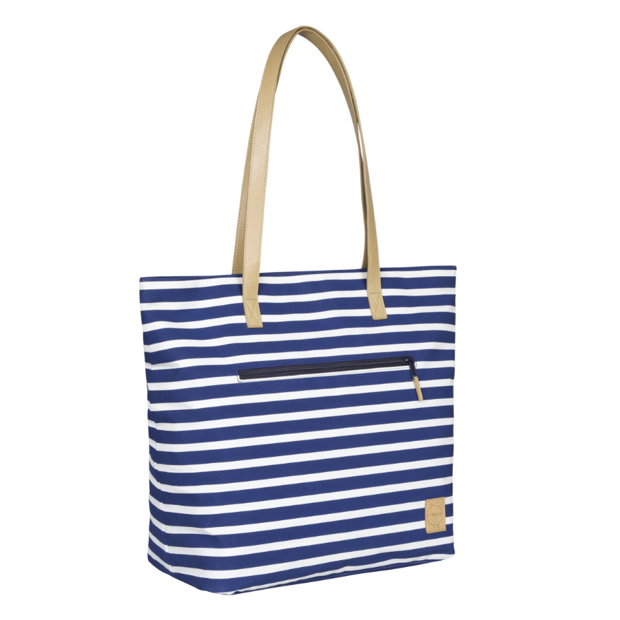 LÄSSIG Luiertas Casual Tote Bag Striped navy