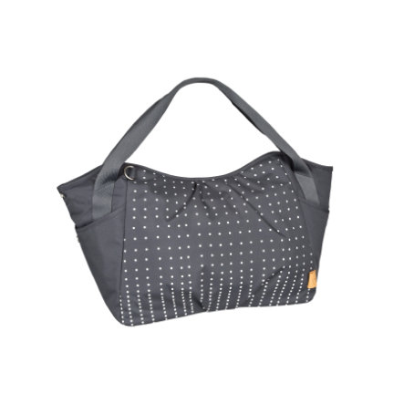 LÄSSIG Sac à langer Casual Twin Bag Dotted lines ebony