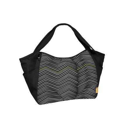 LÄSSIG Sac à langer Casual Twin Bag Zigzag, noir/blanc